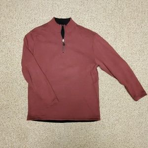 Johnston & Murphy Quarter Zip Pullover (Maroon)
